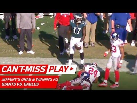 Video: Alshon Jeffery's Sick Catch Sets Up Game-Winning Field Goal! | Can't-Miss Play | NFL Wk 3 Highlights