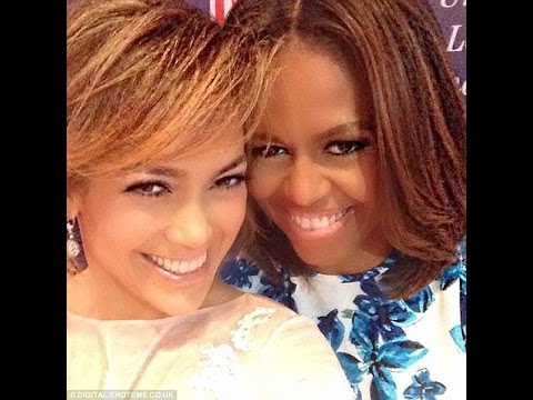 Jennifer Lopez poses for a selfie with Michelle Obama at Latino empowerment conference