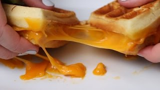 Waffle Grilled Cheese by Tasty