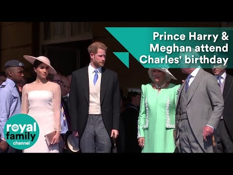 Duke and Duchess of Sussex, Prince Harry and Meghan, attend Prince Charles' 70th birthday (видео)