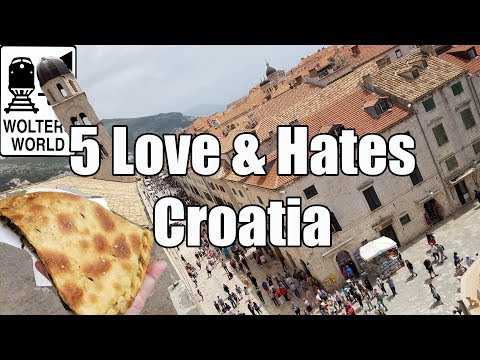 Croatia - http://www.woltersworld.com The Best & Worst of Croatia. Visiting Croatia? Here are the five things that tourists will love and hate about visiting Croatia. ...