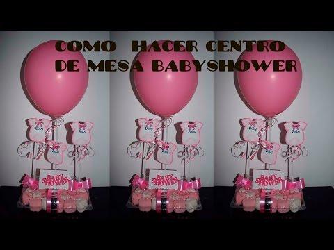 Centro de mesa para baby shower for Decoracion del hogar facil y economico
