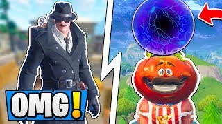 Fortnite What is UNDER Tilted Towers!? | Tomato Town PORTAL, Explosion! ( Season 4 Rocket Launch )