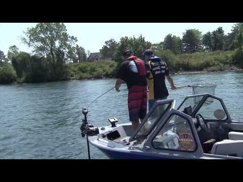 Fishing Tube jigs for Smallmouth Bass, Niagara River, ON
