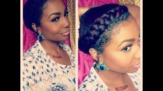 Natural Hair Style: Goddess Braid - YouTube