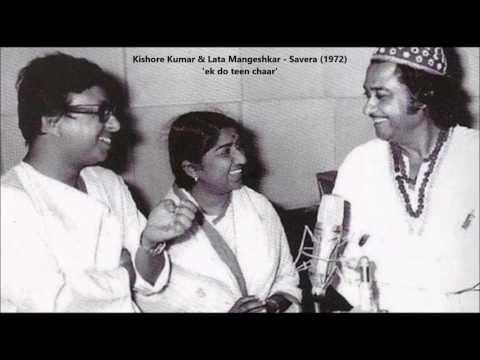 Video Kishore Kumar & Lata Mangeshkar - Savera (1972) - 'ek do teen chaar' download in MP3, 3GP, MP4, WEBM, AVI, FLV January 2017