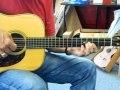 Larry Keith playing his Wayne Henderson guitar....