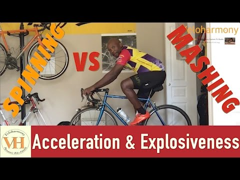 Cycling acceleration and Explosiveness | Spinning vs. Mashing which is faster?