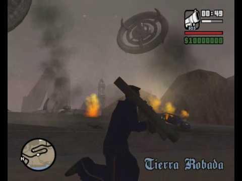 GTA San Andreas Alien Invasion