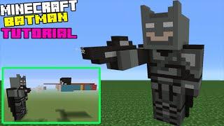 Minecraft Tutorial: How To Make A Batman Statue (Batman Vs Superman: Dawn Of Justice)