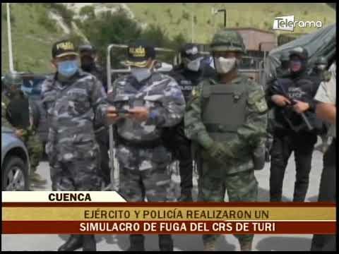 Ejército y policía realizaron un simulacro de fuga del CRS de Turi