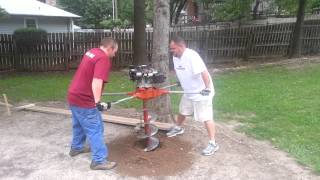 7. Using a two man Auger