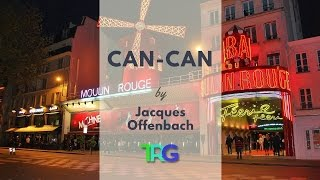 Jacques Offenbach - Can-Can (Orphée aux enfers) Classical Music with Audio Spectrum Background ♫ 65● Leave a LIKE, Comment & Subscribe!  ● Join us on Youtube for weekly update: https://goo.gl/Hry5Ut● Johann Strauss II -  Blue Danube Waltz - Classical Music with Audio Spectrum Background ♫ 64 - https://goo.gl/uo1fTZThe Relax Guys on Social Media:● Facebook: https://www.facebook.com/therelaxguys/● Twitter: https://twitter.com/TheRelaxGuys● Instagram: https://www.instagram.com/therelaxguys/● VK: https://vk.com/therelaxguys● Youtube: https://www.youtube.com/therelaxguyzBackground: Eugène Galien-Laloue The Moulin Rouge eveningJacques Offenbach - Can-Can (Orphée aux enfers)The can-can (or cancan as in the original French; French pronunciation: ) is a high-energy, physically demanding dance which became a popular music hall dance in the 1840s, continuing in popularity in French cabaret to this day. Originally danced by both sexes, it is now traditionally associated with a chorus line of female dancers. The main features of the dance are the high kicks, splits and cartwheels. The Infernal Galop from Jacques Offenbach's Orpheus in the Underworld is the tune most associated with the can-can.The cancan is believed to have evolved from the final figure in the quadrille, which is a social dance by four couples. The exact origin of the dance is unknown but the steps may have been inspired by a popular entertainer of the 1820s, Charles Mazurier, well known for his acrobatics, including the grand écart or jump splits — both popular features of the cancan.[citation needed]The dance was considered scandalous, and for a while, there were attempts to repress it. This may have been partly because in the 19th century, women wore pantalettes, which had an open crotch, meaning that a high kick could be unintentionally revealing. There is no evidence that cancan dancers wore special closed underwear, although it has been claimed that the Moulin Rouge management did not permit dancers to per