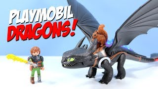 Video How to Train Your Playmobil Dragon Hiccup and Toothless MP3, 3GP, MP4, WEBM, AVI, FLV Juli 2018