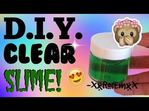 D.I.Y. Crystal Clear Slime | How To Make Stretchy, Transparent Slime! (AMAZING!)