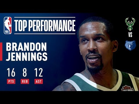 Brandon Jennings Shows Out In His Return To The Bucks