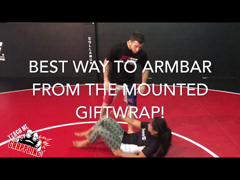 Best way to Armbar from the Mounted Giftwrap! (видео)