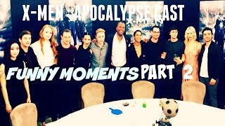 Download Lagu X-Men Apocalypse Cast - Funny Moments Part 2 Mp3