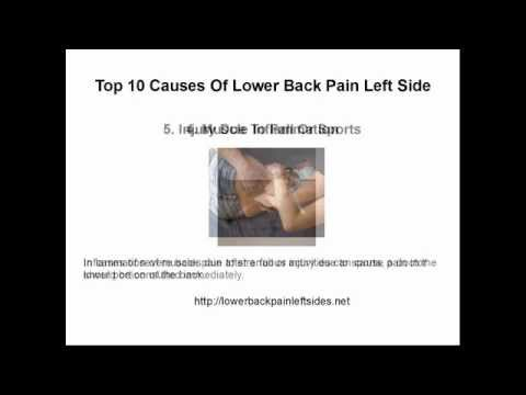 Lower Back Pain Left Side - Top 10 Causes: