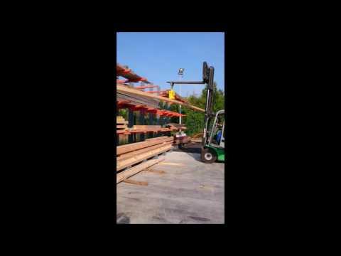 Palonnier mono-ventouse sur chariot élévateur