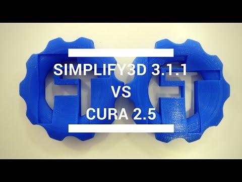 Simplify3D 3.1.1 vs Cura 2.5