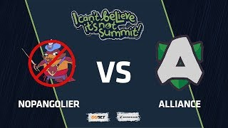 NoPangolier vs Alliance, Game 1, Group Stage, I Can't Believe It's Not Summit