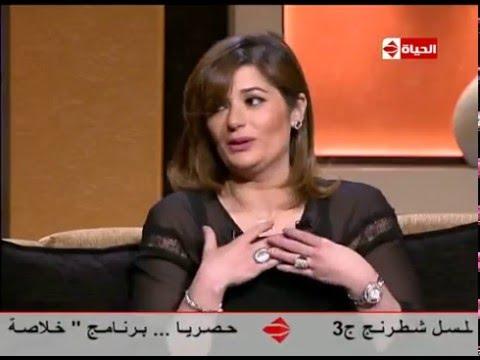 شاهد-  زوجة  أحمد زاهر تتقمص دور المذيعة