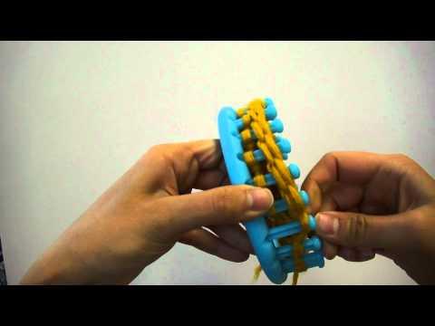 Knitting Loom (Strickring) – Stricken eines Bündchens (Video ist auch für Serenity Loom geeignet)