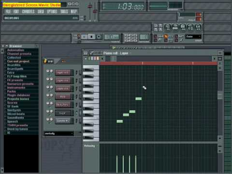 Loops - You can also produce your own music easily!! Program used : Fruity Loops Studio.