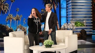 Video Ellen Shocks Jeannie With a Huge Surprise MP3, 3GP, MP4, WEBM, AVI, FLV Desember 2018
