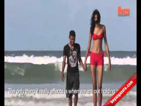 Dünyanın en uzun boylu kızı hem de 19 yaşında!