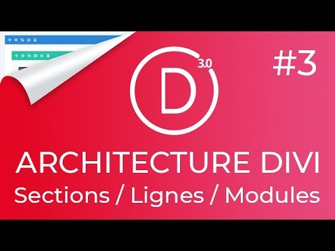 #DIVI 3: Les bases du DIVI BUILDER : Sections+Lignes+Modules (+Astuces utiles pour mieux l'utiliser)