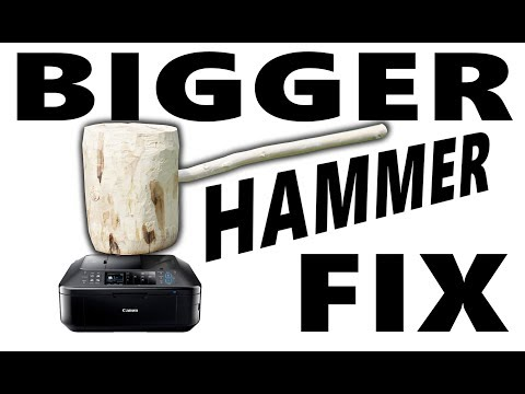 Craftsman Builds A Massive Wooden Hammer To Destroy His Shitty