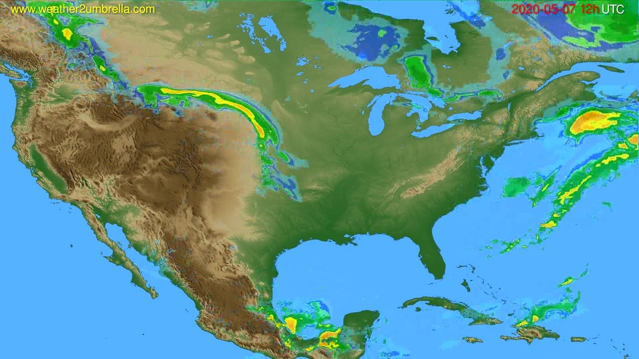 Radar forecast USA & Canada // modelrun: 00h UTC 2020-05-07