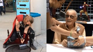 Video Real Thor's Hammer at Comikaze (Stan Lee Signing!!!) | Sufficiently Advanced MP3, 3GP, MP4, WEBM, AVI, FLV Desember 2018