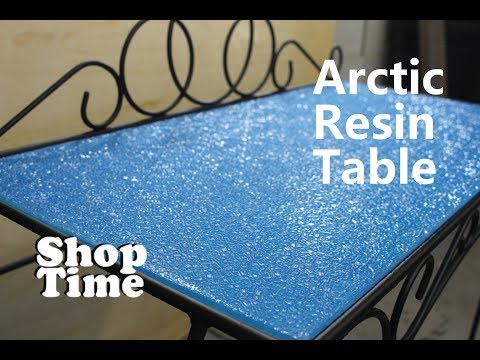 Arctic Resin Table