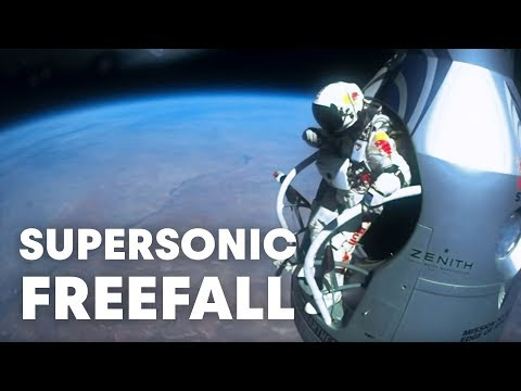 Felix Baumgartner's supersonic freefall from 128k' - Mission HighlightsFelix Baumgartner's supersonic freefall from 128k' - Mission Highlights