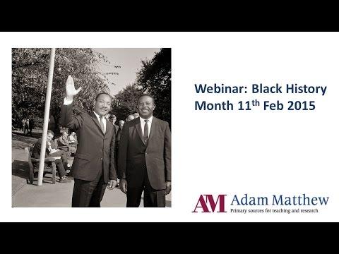 Webinar: Black History Month (2015)