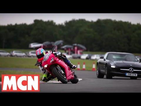Ducati 1198 SP v Mercedes SLS AMG