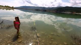 Pirineo Aragones Spain  City pictures : Pescando en Yesa, Pirineo Aragonés / Fishing Day in Yesa Spain With ItachiDOG