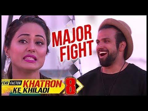 MAJOR FIGHT Between Rithvik Dhanjani And Hina Khan   Episode Update Of Khatron Ke Khiladi 8 (видео)