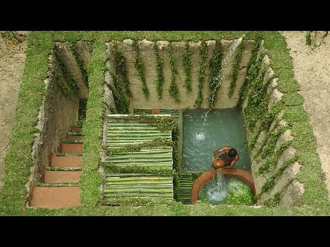 Dig To Build Most Medical Twin Pools & Underground Bamboo House