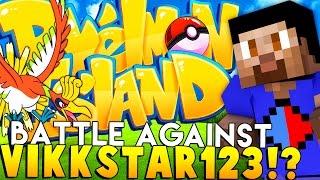 BATTLE WITH VIKKSTAR - Minecraft Pixelmon Island - Pokemon Mod