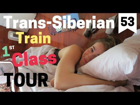 Trans-Siberian Train: First Class Wagon Tour (видео)