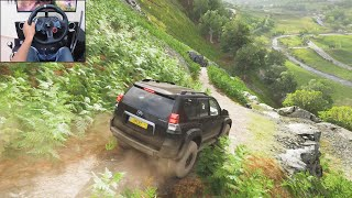 Toyota Land Cruiser Prado | Realistic offroading - Forza Horizon 4 | Logitech g29 gameplay