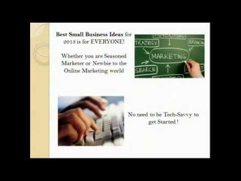 Best Small Business Ideas 2013