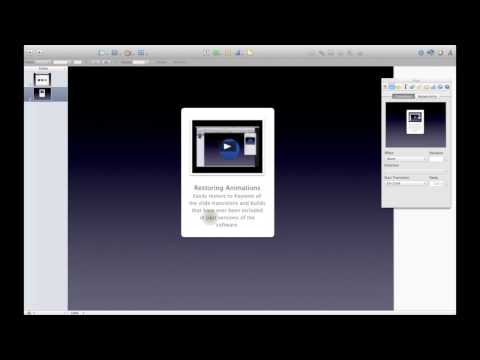 Apple iWork Keynote Tips and Tricks: A Nice Zoom and Fade Effect in Keynote
