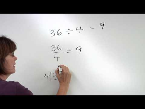 Solving Division Problems Video