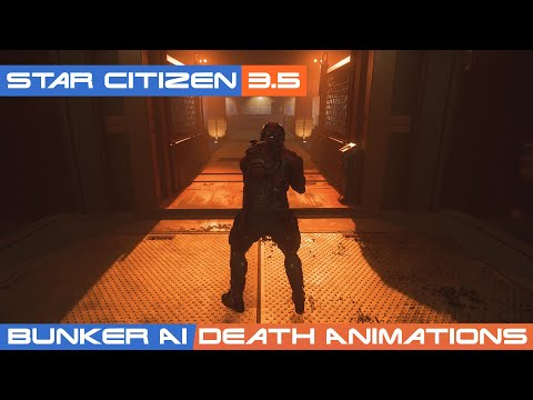 Star Citizen 3.5: Bunker AI And AI Death Animations Working Well