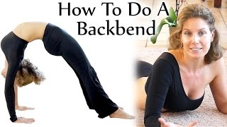Backbend Stretches! Beginners Yoga Flexibility Challenge, Tutorial, How To Do A Backbend - YouTube